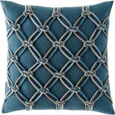 "Knots can be used anywhere!  Love this. Elaine Smith Lagoon Rope Pillow, 20""Sq. #ad"
