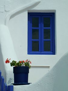 Greece..(.seems they have the most consistent use of stunning cobalt blue against the white washed buildings and brilliant sun..so pretty).