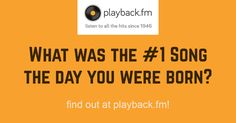 What was the #1 song the day you were born? Or what about the day you graduated? Find out the #1 song for any day since early 1940 all the way until 2015!