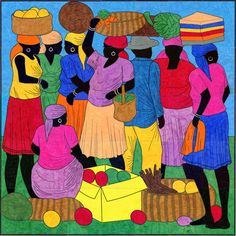 Art Projects for Kids: Haiti Market Day Mural - This is a mural the kids could do...there's a 12, 24, and 35 page version...it benefits Project HOPE Art in haiti