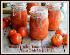 Lavender and Lovage | Bottling Tomatoes using the Water Bath Method: Step-by-Step Tutorial with Images and Recipe | http://www.lavenderandlovage.com