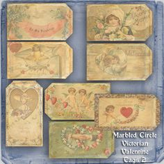 A Marbled Circle CU Victorian Valentine Papers 1