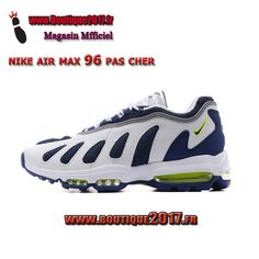 on sale 7d07c e2af2 Funny Shoes · Nike Air Max 96 Blanc Navy Gris boutique2017