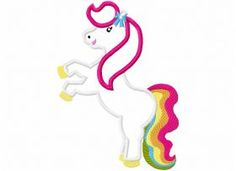 All Designs :: Rainbow Pony Applique