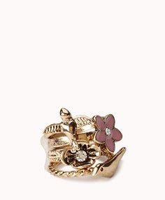 #Forever21                #ring                     #Bird #Flower #Ring       Bird & Flower Ring Set                              http://www.seapai.com/product.aspx?PID=52815