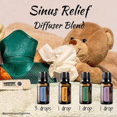 My cold is definitely improving but it is still affecting my sinus. This afternoon I'm using this diffuser blend as a nice change from…