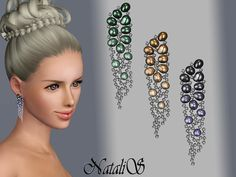 Pearl and Crystal Earrings by NataliS  http://www.thesimsresource.com/downloads/1181595