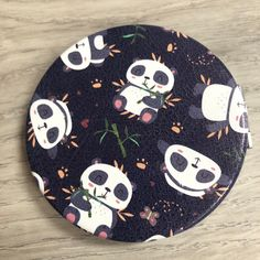 Fun compact mirrors perfect for your handbag or travels Compact Mirror, Mirrors, Kids Rugs, Gift Ideas, Pocket, Fun, Gifts, Travel, Pandas