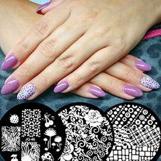 Zdobicí destičky jsou malý zázrak! Stačí chvilka a vaše nehty může ozvláštnit více než stovka vzorů. Stačí si jen vybrat! :) #nailart