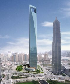 Shanghai World Financial Center - Shanghai - China - 492 m - 101 floors - 2008