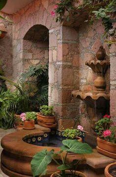 Spanish style homes – Mediterranean Home Decor Outdoor Rooms, Outdoor Gardens, Outdoor Living, Outdoor Decor, Hacienda Homes, Hacienda Style, Spanish Style Homes, Spanish House, Spanish Colonial