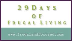 frugal living ideas...that aren't about coupons!