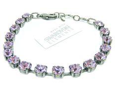 Armband mit Swarovski Elements -Uni- Violet Günstig