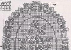Kirini ručni radovi: Ovalni stolnjak sa ružama