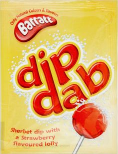 Barratt Dip Dab Retro Sweets Full Box of 50 90s Sweets, Retro Sweets, Retro Food, Vintage Food, British Candy, British Sweets, Dip And Dab, My Childhood Memories