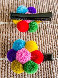 Hmong Hairpin/ Accessories/ Ethnic/ Embroidery/Colorful/Tribal/Whole Sale Making Hair Bows, Diy Hair Bows, Hair Ribbons, Ribbon Bows, Diy And Crafts, Crafts For Kids, Kids Diy, Decor Crafts, Pom Pom Crafts