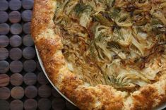 Fennel and Onion Galette with Gruyere Crust deserves a spot on your menu this week!