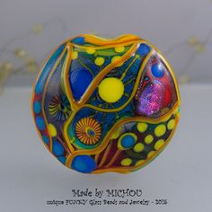 Spirit  Art Glass  1 focal bead by Michou P. by michoudesign