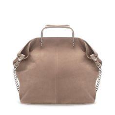 SUEDE SHOPPER WITH METAL HANDLE - Large handbags - Handbags - Woman - ZARA India