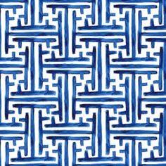 Wallpaper design by Michael Chandler Fabric Wallpaper, Of Wallpaper, Pattern Wallpaper, Textile Patterns, Color Patterns, Print Patterns, Textiles, Textile Design, Greek Pattern