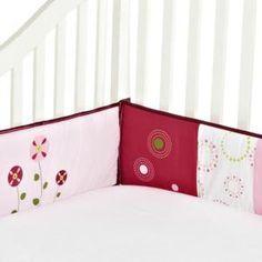 Provence tour de lit rose pour enfants, motif papillon ( 4 pièces ), 27.9 x 25.4…