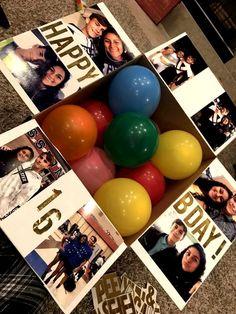 Creative Birthday Gifts, Good Birthday Presents, Birthday Gifts For Best Friend, Birthday Gifts For Girlfriend, Birthday Diy, Best Friend Gifts, Husband Birthday, Boyfriend Birthday, Diy Birthday Hamper