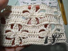 Crochet Flower Patterns, Baby Knitting Patterns, Crochet Designs, Crochet Flowers, Crochet Waffle Stitch, Crochet Stitches, Love Crochet, Irish Crochet, Fillet Crochet