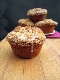 Carrot Streusel Muffins; from Top with Cinnamon blog