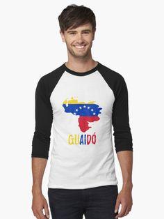 'Venezuela map flag - Guaido President' T-Shirt by CacaoDesigns Venezuela Flag, Tshirt Colors, Wardrobe Staples, Female Models, Classic T Shirts, Presidents, Tank Man, Phone Cases, Map