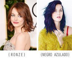 Ronze y Negro azulado
