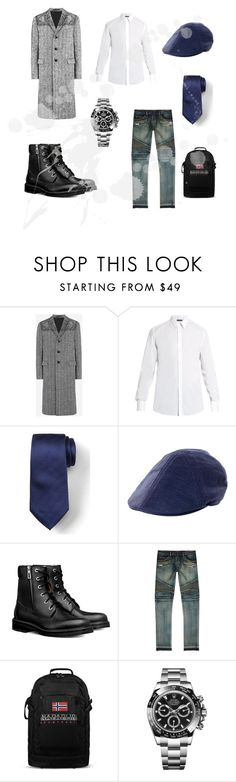 """#new_set_16"" by benelux2 ❤ liked on Polyvore featuring Valentino, Dolce&Gabbana, Banana Republic, Goorin, Balmain, Napapijri, Rolex, men's fashion and menswear"