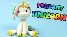 How to make fondant UNICORN cake topper tutorial