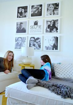 Selfie Tween/Teen Instagram Hangout Wall DIY- with FREE Instagram printable! Great DIY BLOG!