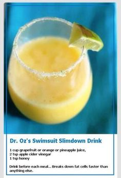 Dr Oz's Slimdown Drink