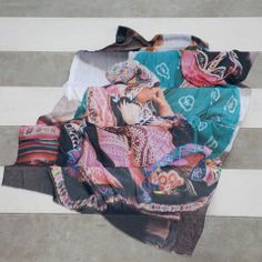 bird and knoll - peru | inca bebe - luxurious oversized cashmere blend scarves