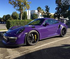 Porsche 991 RS painted in Ultraviolet Purple - Love it Photo taken by: Porsche Gt3, Porsche Cars, Ford Mustang, Porche 911, Bmw M Power, High Performance Cars, Shelby Gt, Gt3 Rs, Car Colors