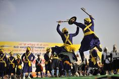 Hola Mohalla, celebrated on the day after Holi in Punjab every year.    More Holi celebration ideas at:  http://indiauntravelled.blogspot.in/2012/02/holi-long-weekend-2012-4-offbeat.html