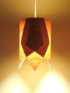 Modern Handmade Wood Lamp Shade/ Hanging Wood by ShelterDecor, $121.40