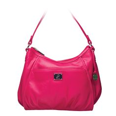 """Lily    $80.00    Your perfect everyday bag in durable faux leather. This slouchy hobo hides an extra zippered pocket in a sunken vertical seam.    •  Faux leather  •  16"""" L, 9.5"""" H, 7.5"""" W  •  Handle with 10.5"""" drop •  Exterior pocket fits any Grace Adele Clutc"""