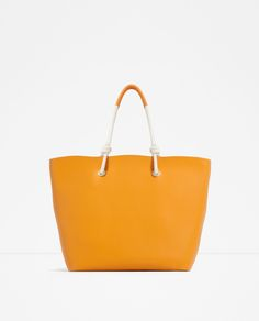 TOTE WITH CORD DETAIL