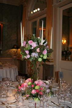 Mid summer nights dream themed wedding reception at Claridges