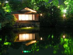 Tea House by night