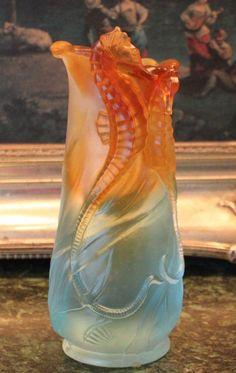 Lalique Seahorse Vase