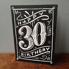 30th chalkboard birthday