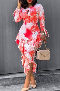 Red Long Sleeve Dress, Cheap Long Sleeve Dresses, European Dress, Elegant Dresses For Women, Elegant Gowns, Ruffles, Ruffle Skirt, Daily Dress, Prom Party Dresses