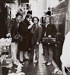 Chevy Chase, Dan Aykroyd, John Belushi and Lorne Michaels