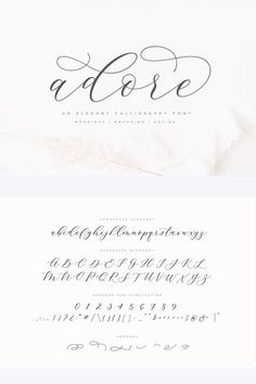 Introducing the elegant new Adore Calligraphy Font! For those of you who are nee… Introducing the elegant new Adore Calligraphy Font! For those of you who are needing a touch of elegance and modernity for your designs, this font was… Continue Reading → Calligraphy Fonts Alphabet, Hand Lettering Alphabet, Script Lettering, Handwriting Fonts, Typography Fonts, Graffiti Alphabet, Islamic Calligraphy, Letter Alphabet Fonts, Cursive Fonts