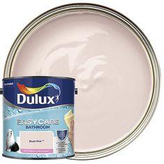 176565 - Dulux Easycare Bathroom Soft Sheen Emulsion Paint - First Dawn Kitchen And Bathroom Paint, White Bathroom, Bathroom Ideas, Bathroom Gallery, Bathroom Inspo, Bathroom Interior, Small Bathroom, Plascon Paint, Plascon Colours