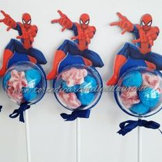 Smurfs, Party Favors, Gadgets, Birthday Parties, Kids, Table, Lollipops, Candy Table, Future