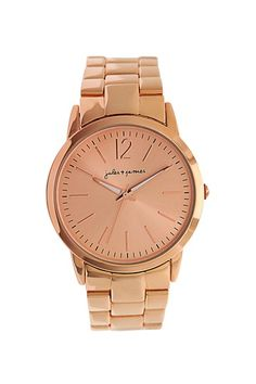 "Jules & James ""Rose Gold Tone Bracelet Watch"", equally as beautiful is this watch in gold."